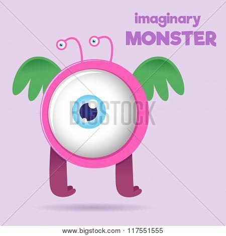 Big Eye Children Imaginary Monster