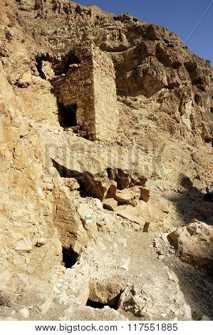 Old ruins in Judea Desert