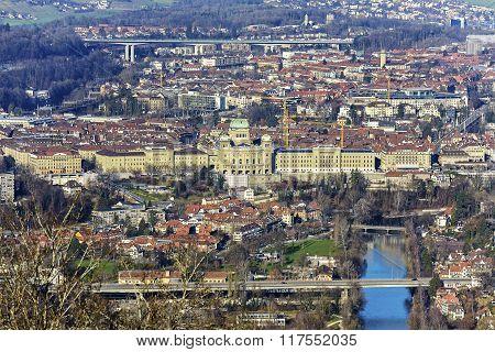 Aerial View Of City Of Bern