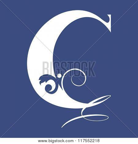 calligraphic letter C