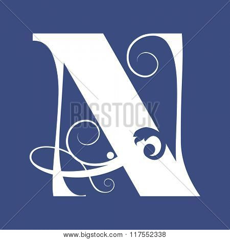 calligraphic letter N