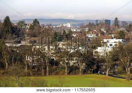 Bern, View Towards The Outer District Of The City