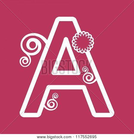 ornamental letter A