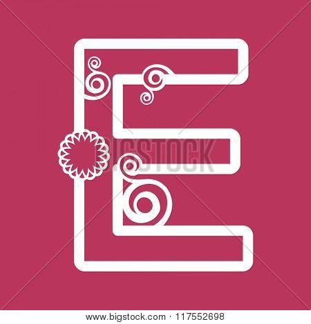 ornamental letter E