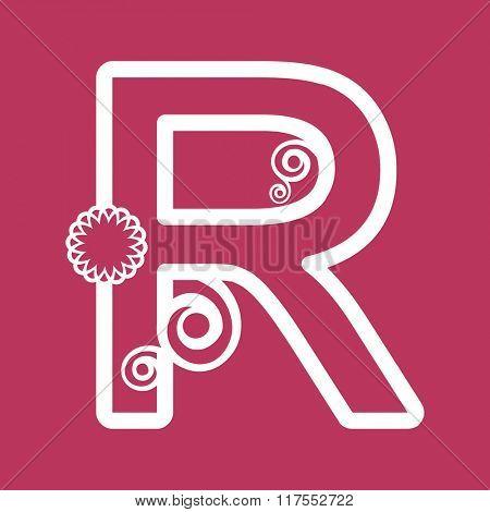 ornamental letter R