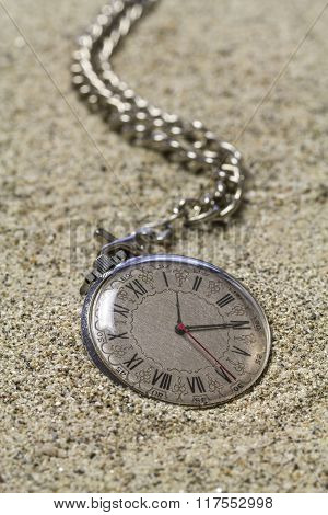 Pocket Watch With Chain.