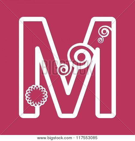 ornamental letter M