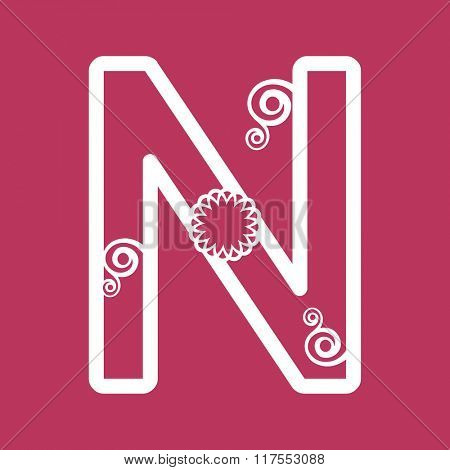 ornamental letter N