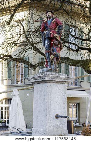 Messenger Fountain In Bern, Switzerland