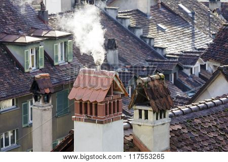 Roofs And Chimneys Of Bern