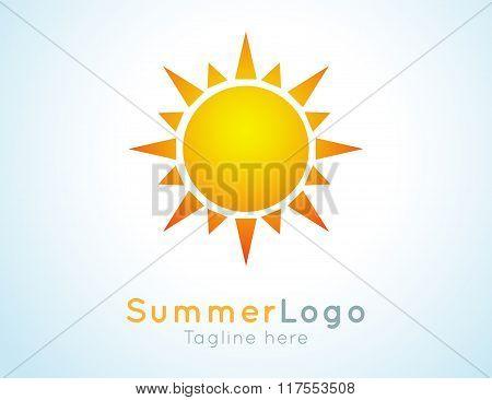 Vector summer logo label. Summer icon.