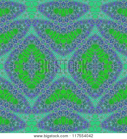 Seamless diamond pattern green aquamarine mint purple