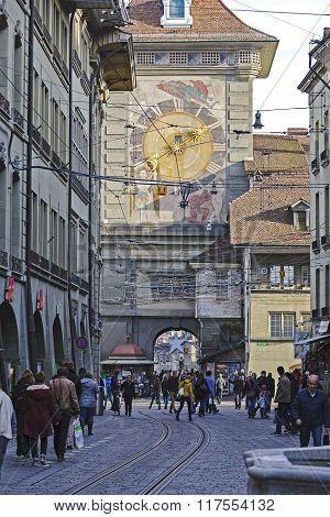 Zytglogge, The Clock Tower In Bern, Switzerland