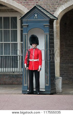 London UK-July 06 soldier of the royal guard July 06.2015 in London