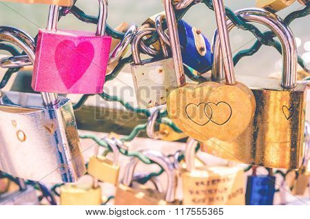 Pink Faded love padlocks