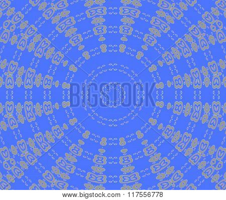 Seamless concentric ornament blue gray
