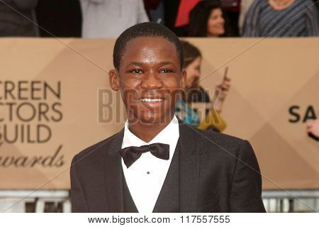 LOS ANGELES - JAN 30:  Abraham Attah at the 22nd Screen Actors Guild Awards at the Shrine Auditorium on January 30, 2016 in Los Angeles, CA