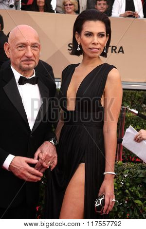 LOS ANGELES - JAN 30:  Sir Ben Kingsley at the 22nd Screen Actors Guild Awards at the Shrine Auditorium on January 30, 2016 in Los Angeles, CA
