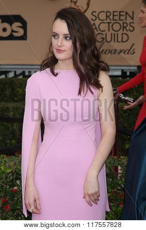 LOS ANGELES - JAN 30:  Sophie McShera at the 22nd Screen Actors Guild Awards at the Shrine Auditorium on January 30, 2016 in Los Angeles, CA