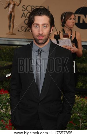 LOS ANGELES - JAN 30:  Simon Helberg at the 22nd Screen Actors Guild Awards at the Shrine Auditorium on January 30, 2016 in Los Angeles, CA