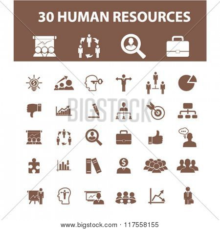 human resources icons, human resources concept, business human resources , management icons, signs vector concept set for infographics, mobile, website, application