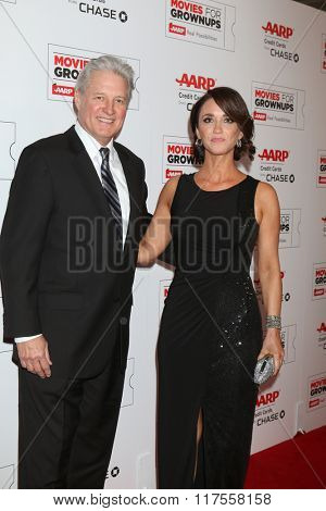 LOS ANGELES - FEB 8:  Bruce Boxleitner, fiance Verena King at the 15th Annual Movies For Grownups Awards at the Beverly Wilshire Hotel on February 8, 2016 in Beverly Hills, CA