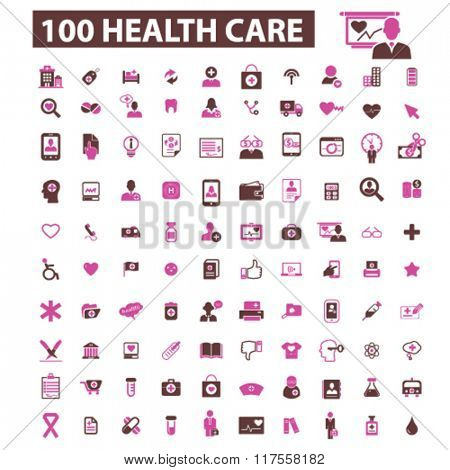 health care, icons, health care and safety, health insurance, medicine  icons, signs vector concept set for infographics, mobile, website, application