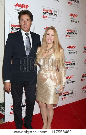 LOS ANGELES - FEB 8:  Fernando Allende, Maria Allende at the 15th Annual Movies For Grownups Awards at the Beverly Wilshire Hotel on February 8, 2016 in Beverly Hills, CA