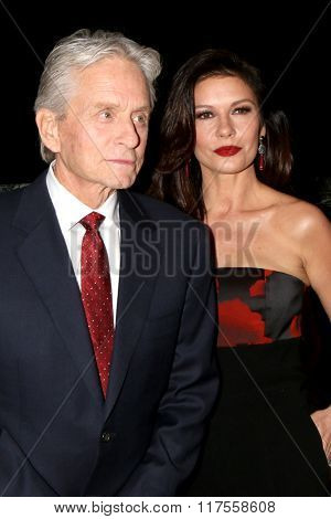 LOS ANGELES - FEB 8:  Michael Douglas, Catherine Zeta-Jones at the 15th Annual Movies For Grownups Awards at the Beverly Wilshire Hotel on February 8, 2016 in Beverly Hills, CA