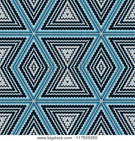 Seamless diamond pattern turquoise white black