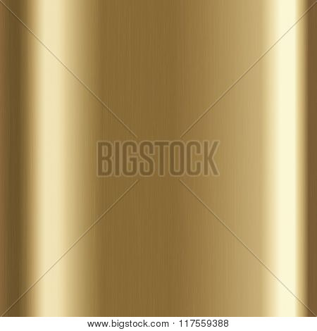 Background with gold brushed metal texture