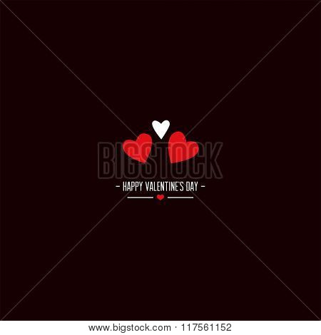 Valentine's day greeting card. Vector illustration