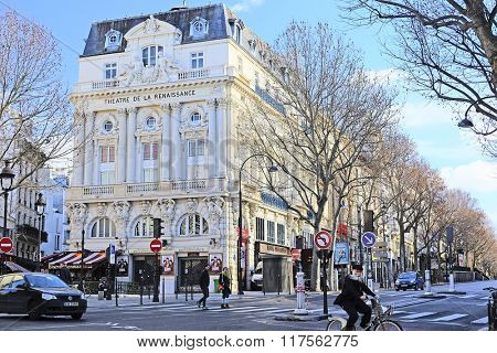 Paris, France, February 6, 2016: the image of Paris street, Paris, France