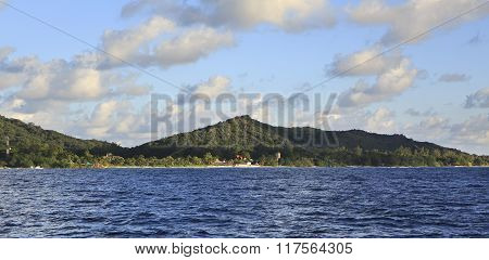 Beautiful Praslin Island in Indian Ocean.