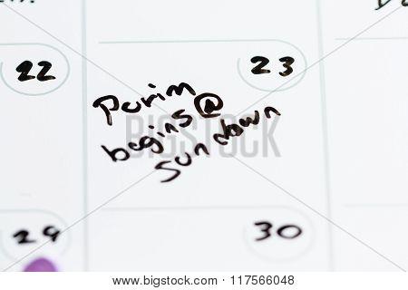 March 23, Purim Begins @ Sundown