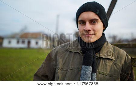 Handsome Kid Portrait Outdoor