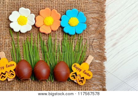 Easter Decoration Chocolate Eggs.