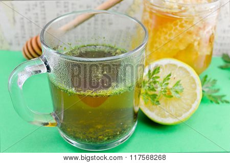 Tea With Parsley, Lemon And Honey