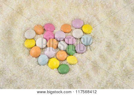 Colorful Bonbons In Sugar