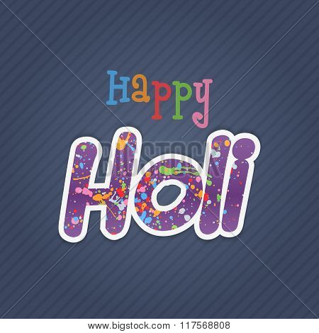 Happy Holi Text with color Splashes