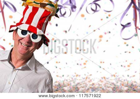 A happy brazilian man at Carnival