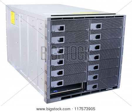 Blade Servers Isolated On White