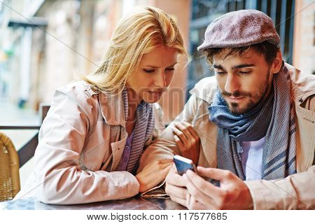 Couple with cellphone