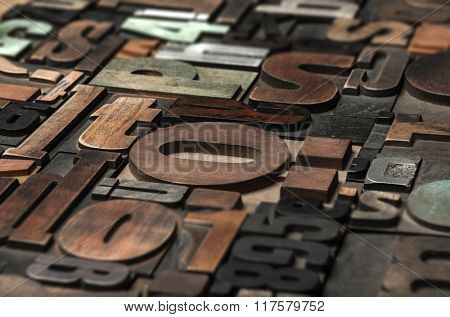 random printing blocks background