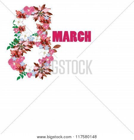 Vector 8 march background. Womans day
