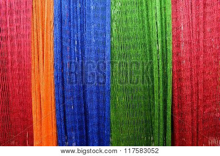 Colourful Hammock Interlace From Nylon Rope