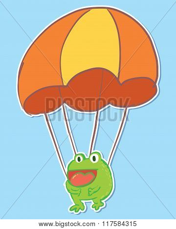 Frog on Parachute