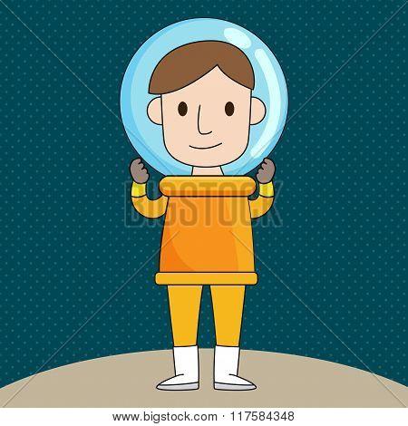 Astronaut Cartoon character