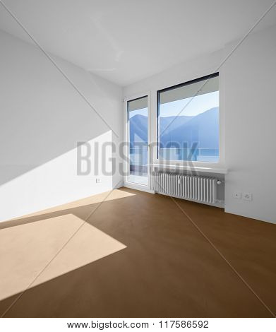 Empty room in modern apartment