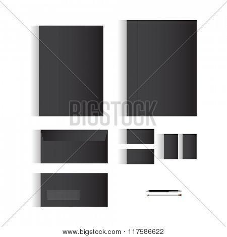 Blank Black Stationery Template Design for Your Business | Modern Vector Design